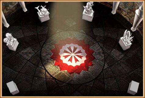 главный зал пантеона богов на острове