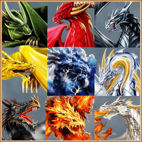 Виды драконов и игре Арена