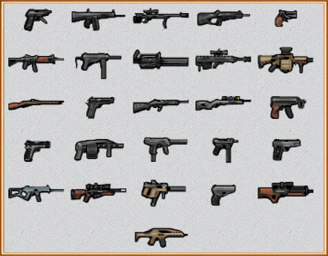 все оружие в rimworld